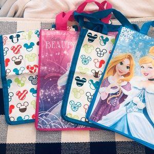 Disney Canvas Reusable Shopping Bag Tote Bundle